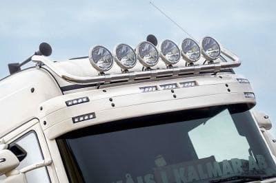 Фароноситель На Кабину, Зажимы, High, 6X Креплений Фар, Kaabel, Scania 4 Serie 95-04, R Serie 09-16 - фото 5316