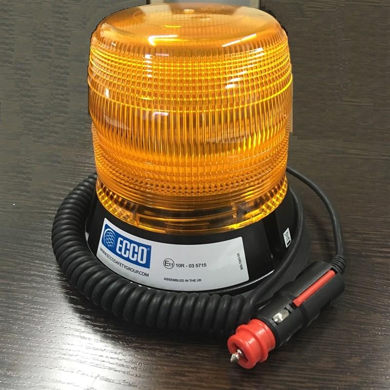 Проблесковый маяк Ecco-ELE 12-24В Крепеж Магнит - фото 5353