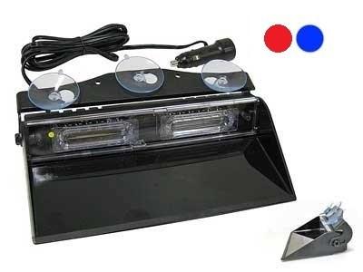 Проблесковая панель LED 12V 235 мм. (синяя) на присосках - фото 12491
