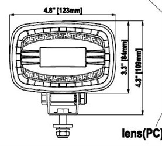 Светодиодная Фара Для Погрузчиков Sae Blue Line 9-110V - фото 16733