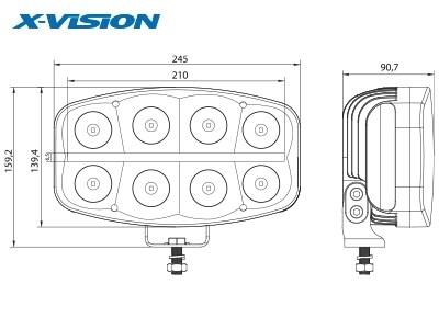 Фара светодиодная X-VISION 64ВТ QUADRATOR LED - фото 16755