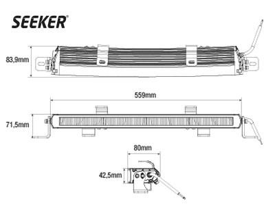 Светодиодная фара SEEKER ULTIMA 30 CURVED - фото 16764