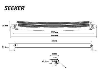 Светодиодная фара SEEKER ULTIMA 30 CURVED - фото 16778