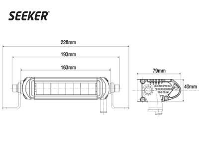 Светодиодная фара SEEKER ULTIMA 10 - фото 16780