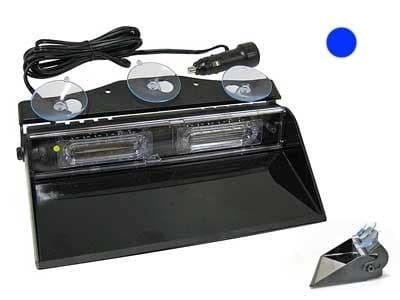 Проблесковая панель LED 12V 235 мм. (синяя) на присосках - фото 4863