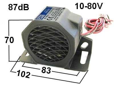 Звуковой сигнал заднего хода 12-80В - фото 5294