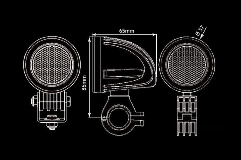 Светодиодная фара BULLBOY 10ВТ (1X10ВТ) - фото 5696