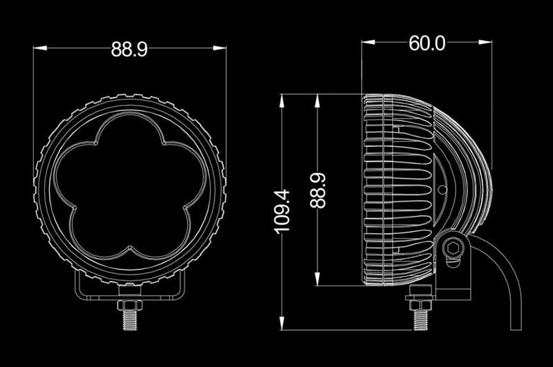 Светодиодная фара B-ELE 18Вт - фото 5711