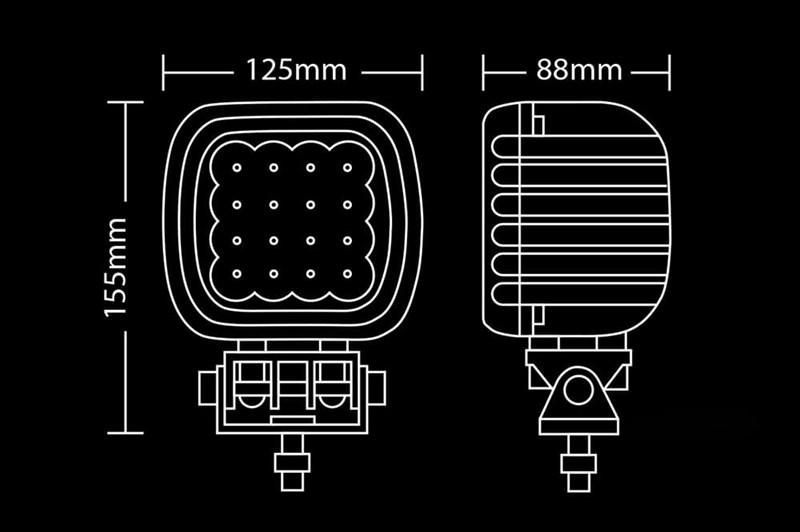 Светодиодная фара BULLBOY 48ВТ (16Х3ВТ) - фото 5737