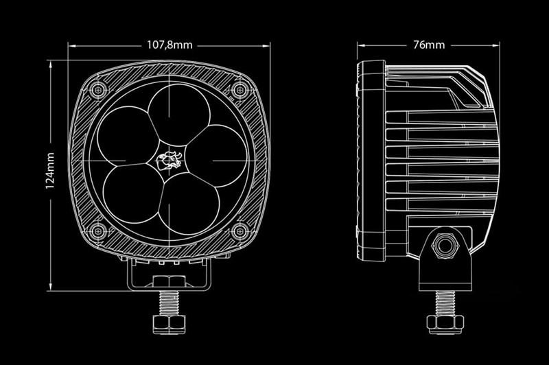 Светодиодная фара BULLPRO 50ВТ (5X10ВТ) - фото 5743