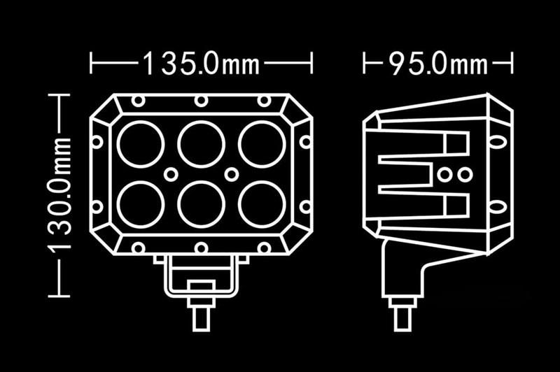 Светодиодная фара BULLPRO 120ВТ (60ГР) - фото 5767