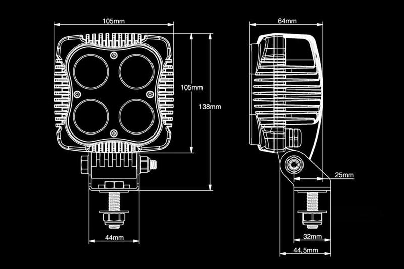 Светодиодная фара BULLPRO 40ВТ (4X10ВТ) OSRAM - фото 5910