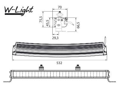 Светодиодная балка W-LIGHT 105ВТ (15Х7ВТ) WAVE 500 - фото 6045