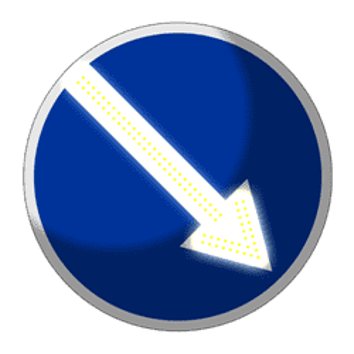 Импульсный знак 4.2.1, 4.2.2 (III типоразмер) - фото 6608