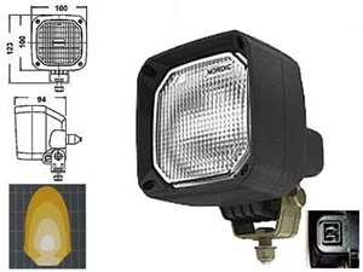 Фара галогеновая NORDIC N25 FLOOD AMP - фото 8106