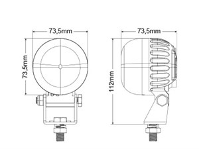 Светодиодная фара для погрузчиков BULLBOY «RED LINE» 12-80V 5W полукруг - фото 8225