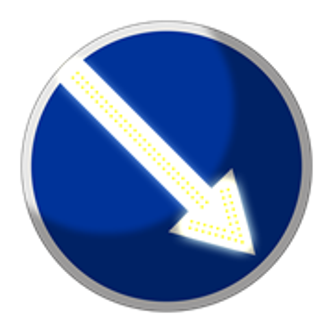 Импульсный знак 4.2.1, 4.2.2 (II типоразмер)