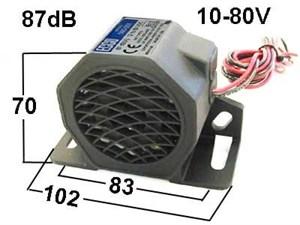 Звуковой сигнал заднего хода 12-80В
