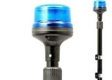 Проблесковый маяк синий 12-24В R65 B16-3 Телескопический